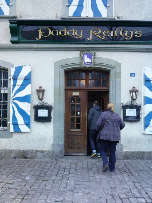 Where do the ex-pats in Fribourg go? The Irish pub of course!