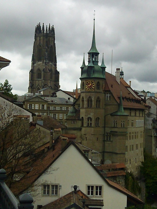 The old town looking suitably gothic