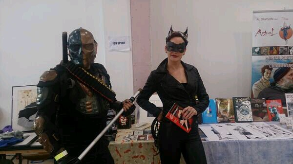 We sold lots -- even Catwoman bought one of my books!