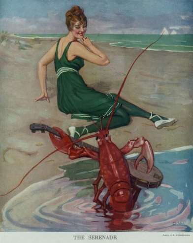 http://ctgpublishing.com/wp-content/uploads/2014/01/beach-bathing-beauty-being-serenaded-by-a-lobster-illustration-circa-1914.jpg