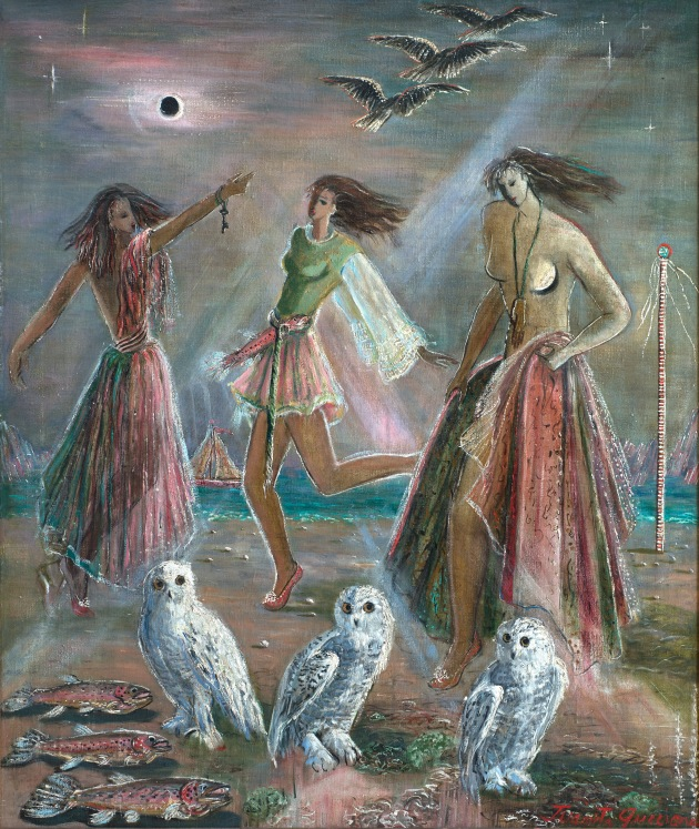 17_juanita_guccione_three_women_and_three_owls