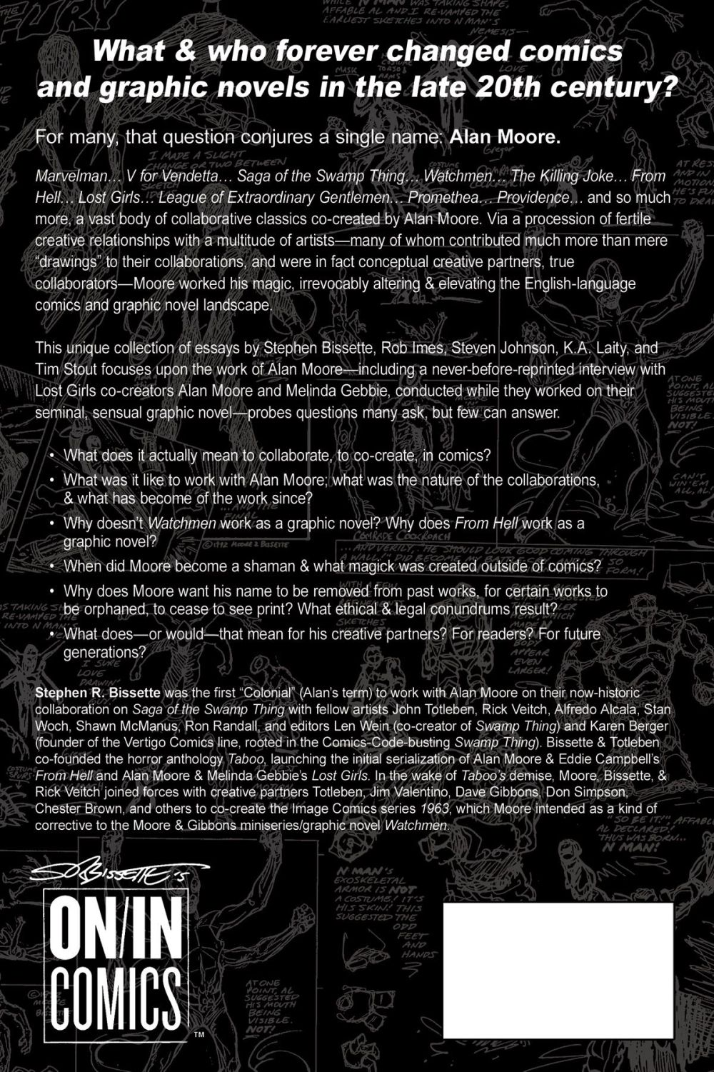 Alan Moore Totem Taboo backcover